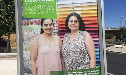 Cincuenta comercios se promocionan en los mupis municipales en la campaña «Conócenos: compra en Boadilla»