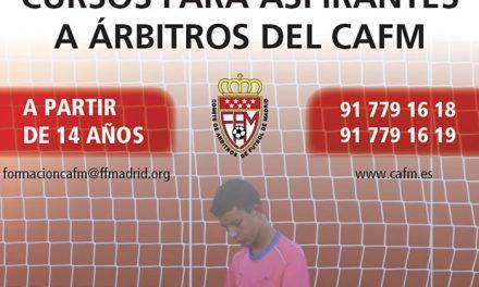 El Ayuntamiento ofrece un curso a los jóvenes para obtener el título de árbitro de fútbol