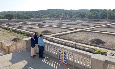 Las obras de recuperación de las antiguas huertas del Palacio avanzan al ritmo previsto