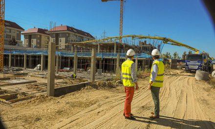 Las obras de las 95 viviendas protegidas de la EMSV en construcción finalizarán la próxima primavera