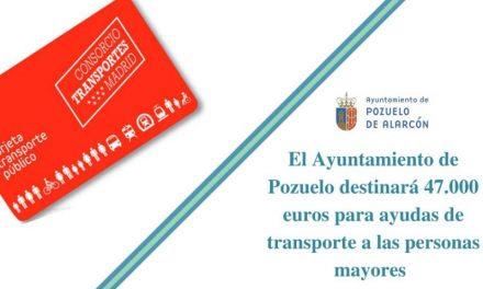 El Ayuntamiento de Pozuelo destinará 47.000 euros para ayudas de transporte a las personas mayores con rentas más bajas