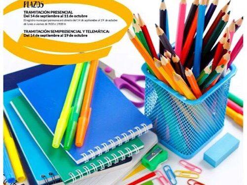 Hoy se abre el plazo de solicitud de becas para la adquisición de libros de texto y material escolar didáctico