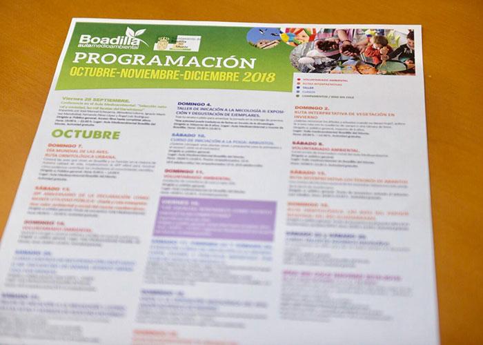 Rutas, talleres, cursos y voluntariado, oferta del Aula Medioambiental para este otoño