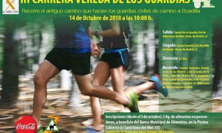 Ayuntamiento y Guardia Civil organizan una nueva edición de la carrera solidaria Vereda de los Guardias