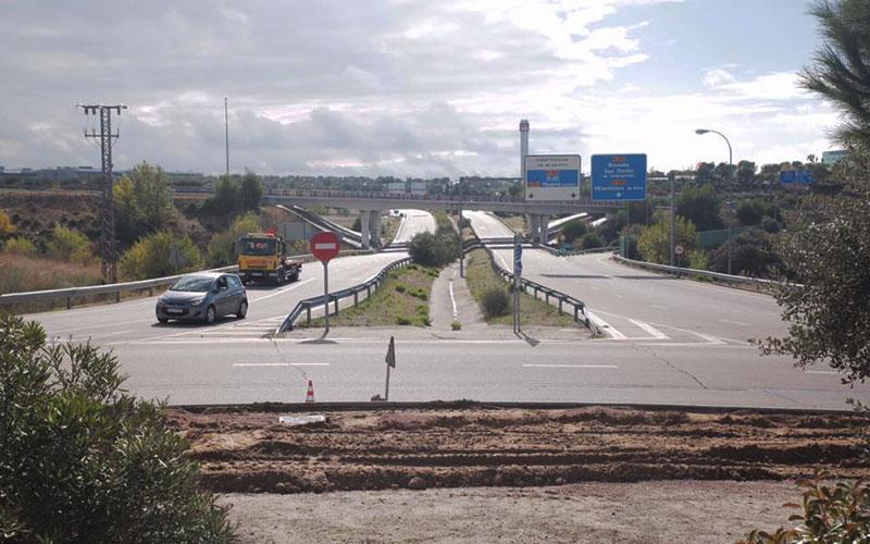 Obras de remodelación en la rotonda de la avenida de España