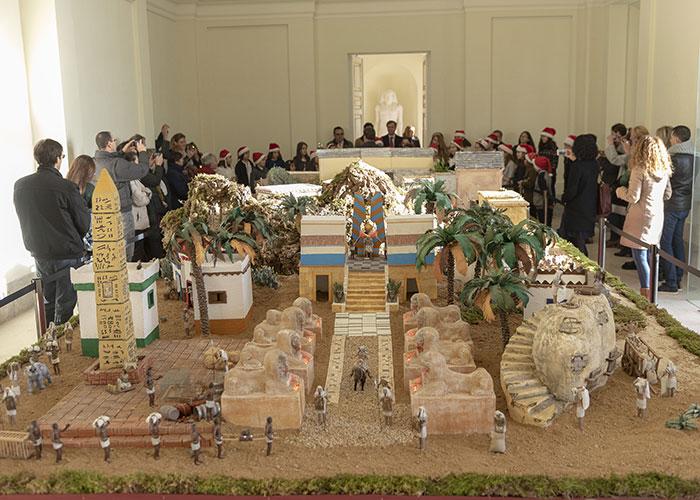 Inaugurado en el palacio del Infante D. Luis el gran Belén, que estará instalado durante todas las navidades