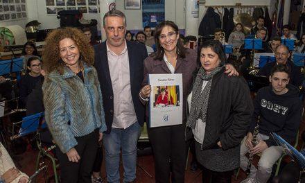 La alcaldesa visitó la sede de la Banda de la Unión Musical de Pozuelo de Alarcón