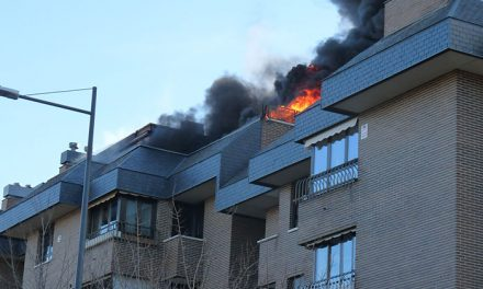 Incendio en un ático en Pozuelo de Alarcón