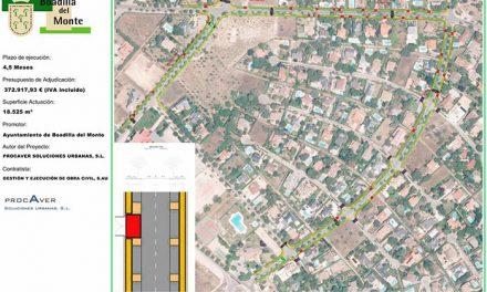 Comienza la primera fase de las obras de acerado en la urbanización Parque Boadilla