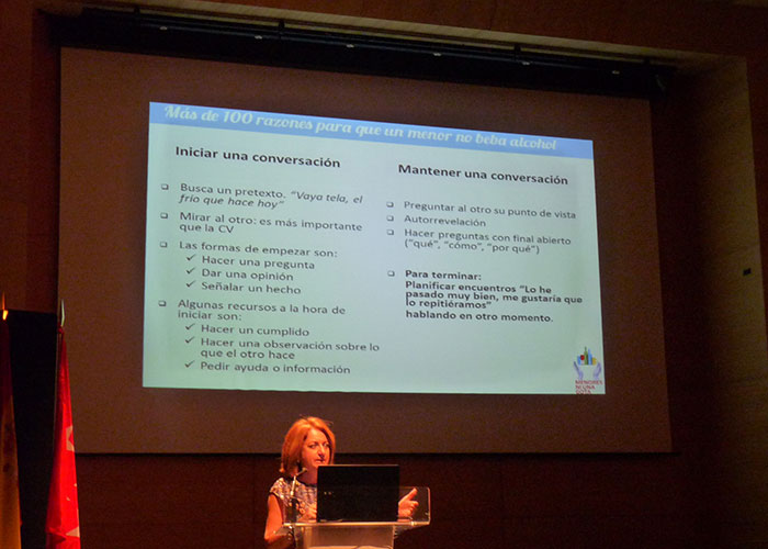 Rocío Ramos-Paúl, nos aconseja sobre el alcohol y los menores, en Boadilla