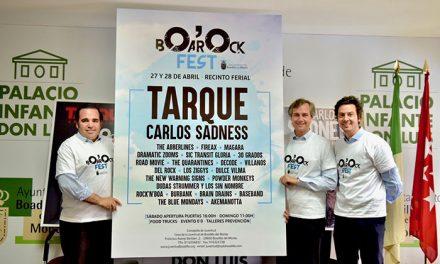 BOarOck contará con  las actuaciones de Carlos Sadness, Carlos Tarque y 21 grupos locales