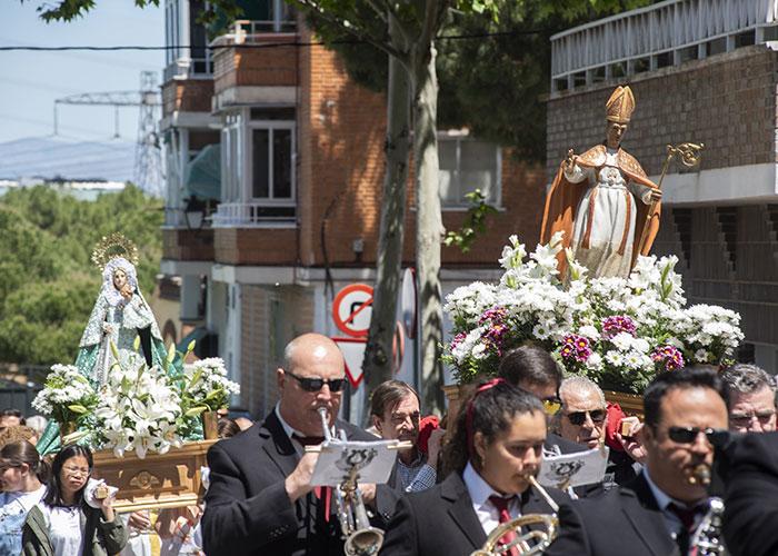 Con la misa y procesión en honor a San Gregorio concluyen las fiestas del Barrio de Húmera de Pozuelo de Alarcón