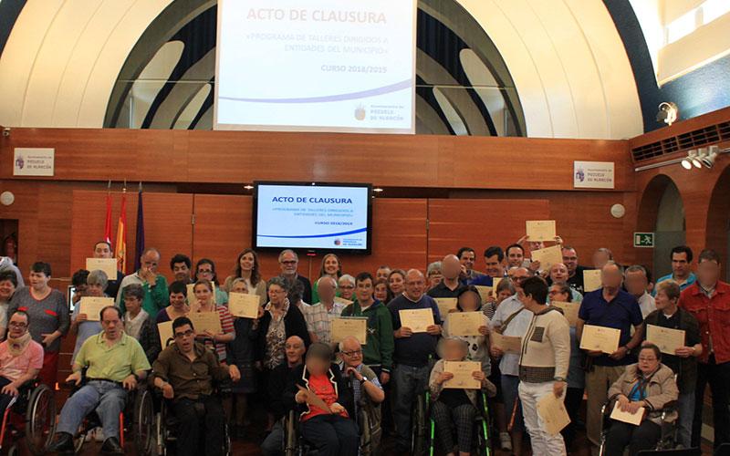 Finalizan los talleres municipales para usuarios de entidades del municipio que trabajan con personas con discapacidad