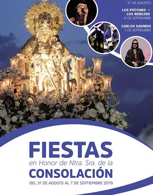 Los conciertos de Marta Sánchez, Los Pistones, Los Rebeldes y Carlos Sadness, platos fuertes en las fiestas en honor a Nuestra Señora de la Consolación