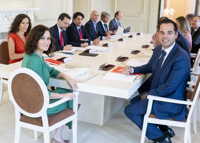 La presidenta Díaz Ayuso aprueba la nueva estructura del Gobierno de la Comunidad de Madrid