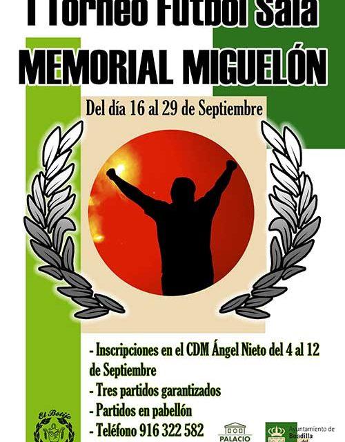 Abierto el plazo de inscripción para participar en el I Torneo de Fútbol Sala Memorial Miguelón en Boadilla