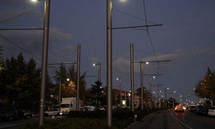 Metro Ligero ilumina su trazado al paso por el área urbana de Boadilla para aumentar la seguridad