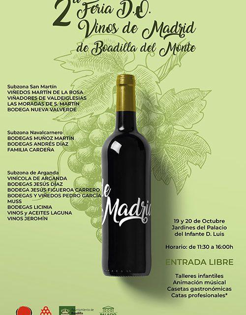 La II Feria de la D.O Vinos de Madrid reúne a 15 bodegas el próximo fin de semana en Boadilla