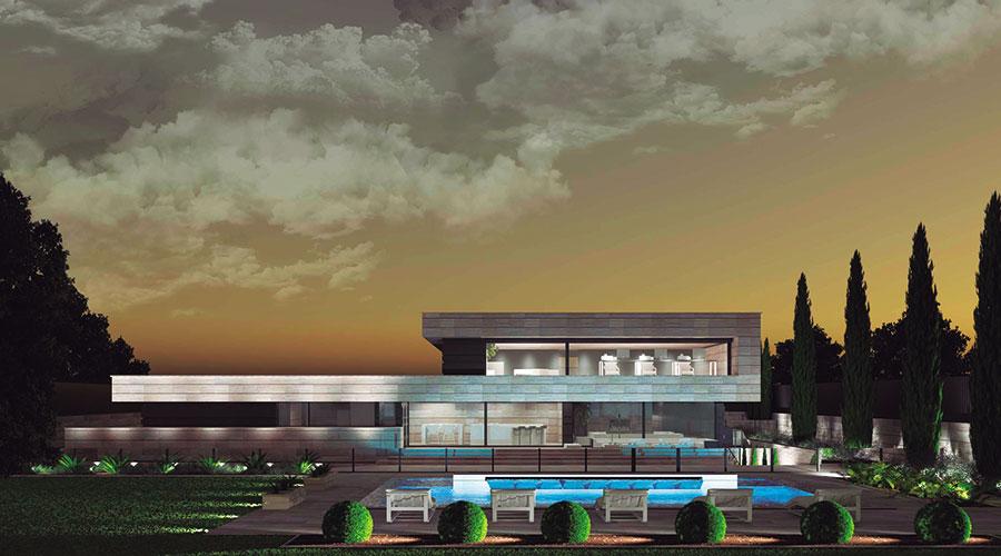 Un sueño hecho realidad: Gran casa unifamiliar de estilo minimalista