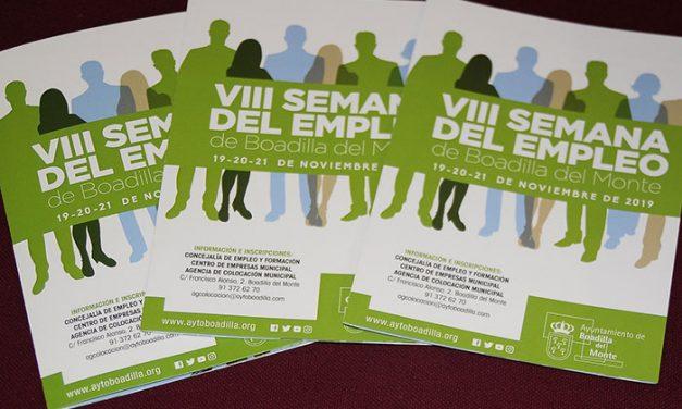 Boadilla celebrará los días 19, 20 y 21 la VIII Semana del Empleo