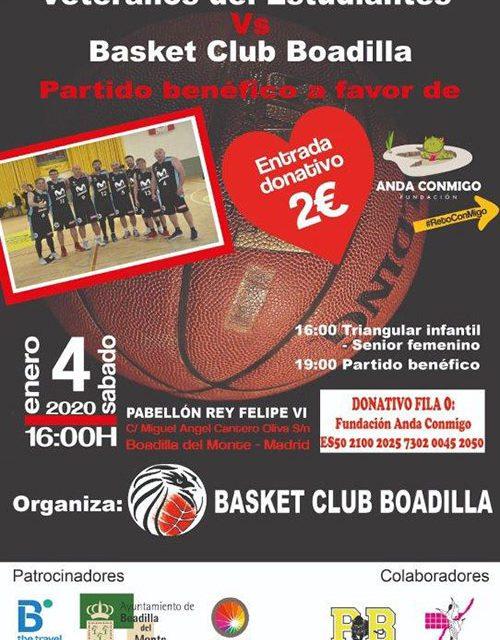 Veteranos de Estudiantes y Basket Club Boadilla jugarán el 4 de enero en sustitución del partido de Veteranos del Real Madrid previsto para el próximo sábado