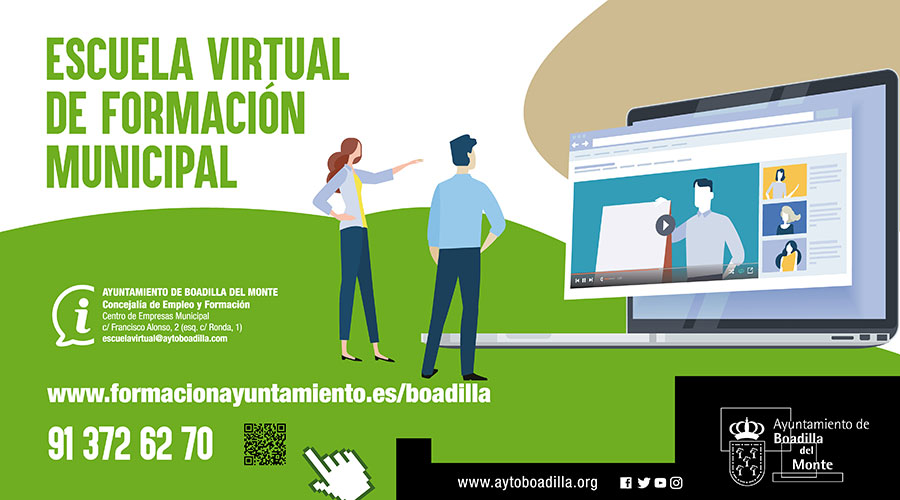 Boadilla crea una Escuela Virtual de Formación que ofrece 119 cursos gratuitos a empadronados