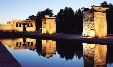 El Templo de Debod (Parque del Cuartel de la Montaña, Madrid)