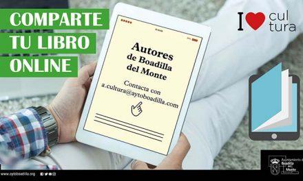 Boadilla ofrece a los escritores locales un espacio en la web municipal para compartir sus libros durante el confinamiento