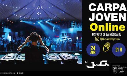 Boadilla organiza para este viernes Carpa Joven en Instagram con su DJ habitual