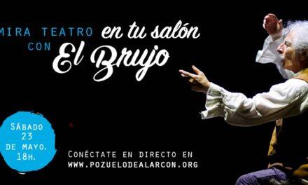 Rafael Álvarez «El Brujo» ofrece mañana su última actuación en streaming desde el MIRA Teatro con la obra «Cómico»