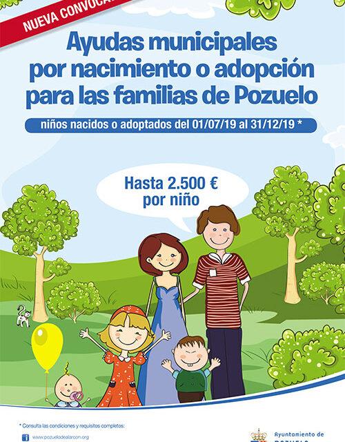 Últimos días para solicitar las ayudas por nacimiento o adopción de hasta 2.500 euros