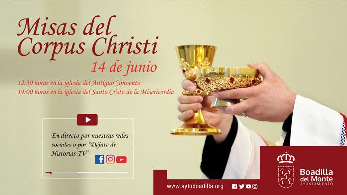 Las dos misas del Corpus Christi se transmitirán en directo por las redes sociales municipales y el canal Déjate de Historias TV
