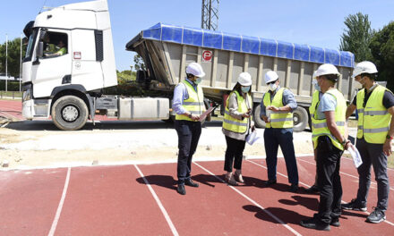 En marcha las obras de mejora en la pista de atletismo de la Ciudad Deportiva Valle de las Cañas de Pozuelo de Alarcón