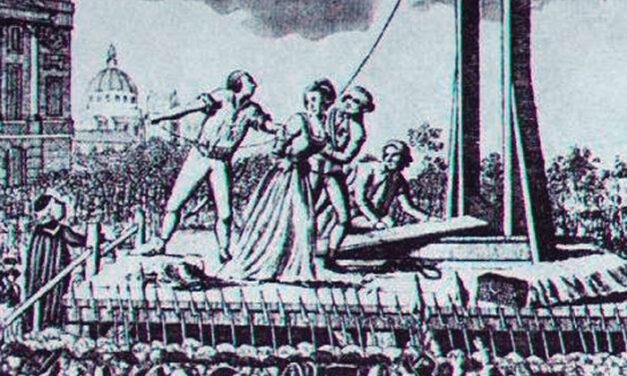María Antonieta en la Guillotina