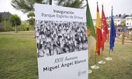 Inaugurado el parque Espíritu de Ermua en el XXIII aniversario del asesinato de Miguel Ángel Blanco