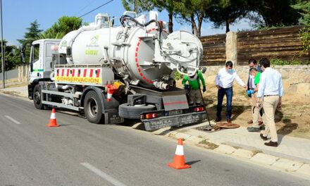 Limpieza integral del alcantarillado en las urbanizaciones históricas de Boadilla