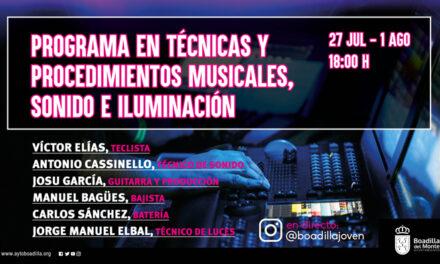 Juventud programa un ciclo de conferencias online sobre producción musical, sonido e iluminación