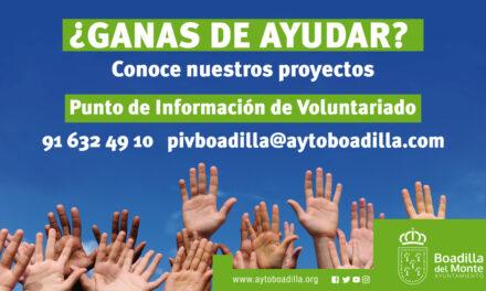El Ayuntamiento de Boadilla pone en marcha una campaña para incentivar el voluntariado en el municipio
