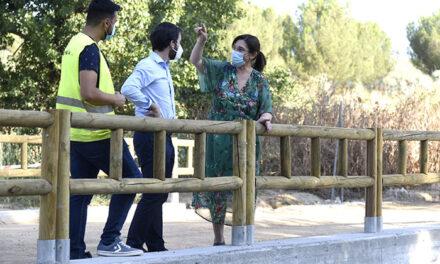 Finalizadas las obras de reparación del pontón sobre el Arroyo Antequina en el Parque Forestal Adolfo Suárez