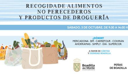 El Ayuntamiento de Boadilla y las peñas del municipio realizarán otra gran recogida de alimentos el próximo sábado