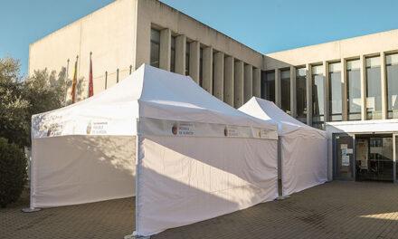 El Ayuntamiento de Pozuelo instala una carpa en el Centro de Salud Pozuelo- Somosaguas