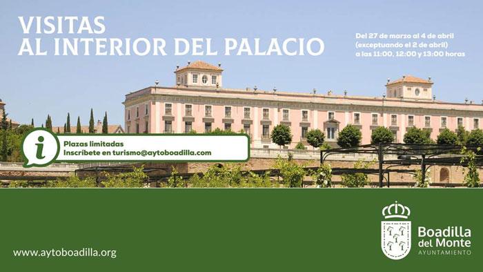Las visitas guiadas al interior del Palacio continuarán durante la Semana Santa, excepto el viernes 2 de abril