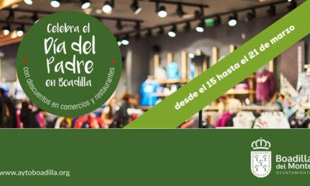 Campaña del Día del Padre en 73 comercios y restaurantes de Boadilla, entre el 15 y el 21 de marzo