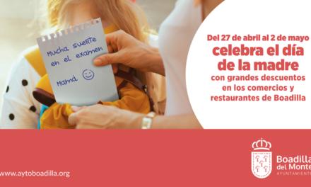 Boadilla promueve la campaña «Día de la Madre» con descuentos y ofertas especiales en comercios y restaurantes