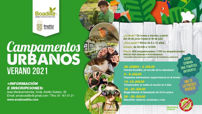 El Aula Medioambiental ofrece campamentos urbanos para niños de 6 a 12 años durante el mes de julio