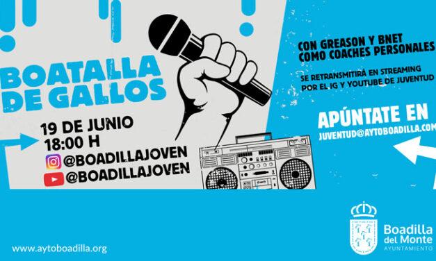 Primera «Boatalla de Gallos» entre jóvenes raperos en Boadilla