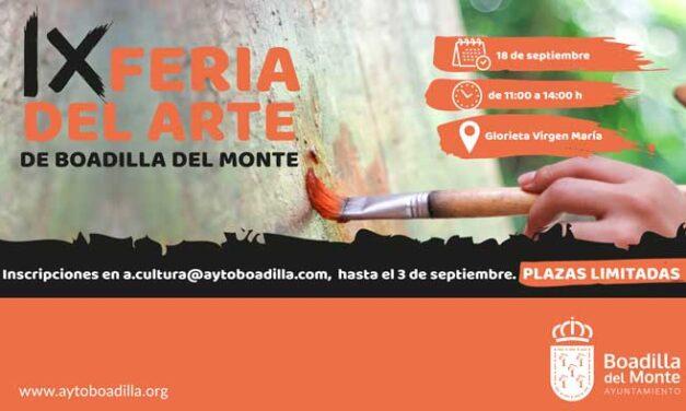 Abierto el plazo de inscripción para participar como expositores en la IX Feria del Arte de Boadilla
