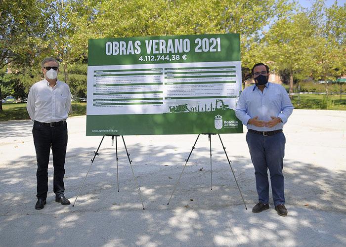 El Ayuntamiento de Boadilla invertirá más de cuatro millones de euros en obras durante este verano