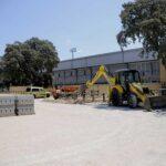 Obras de remodelación del aparcamiento del Complejo Deportivo Municipal Ángel Nieto