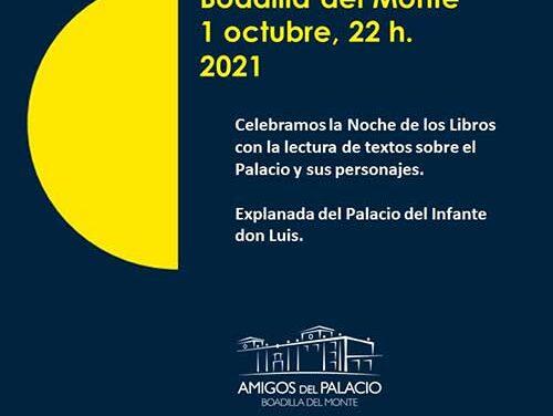 Boadilla se unirá a La Noche de los Libros con la lectura de textos sobre el Palacio y sus personajes